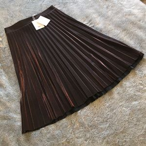 2ac842b88 LC Lauren Conrad Skirts - NWT [lauren conrad runway] Copper Pleated Skirt